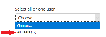 Select all or one user drop down