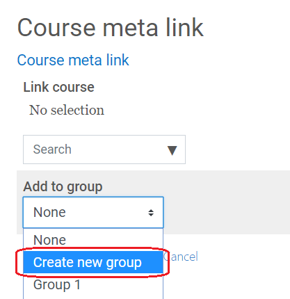 create new group option