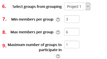 group self-selection initial options