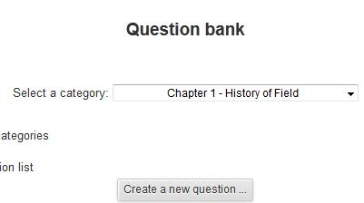 question bank category