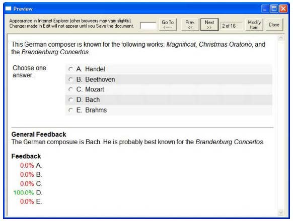 preview questions uploaded to Respondus