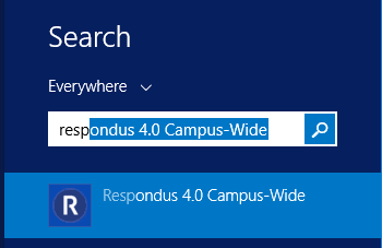 search for Respondus