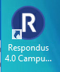 Respondus icon on desktop