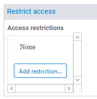 restrict access setup
