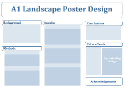 decorative graphic showing possible layout of a poster