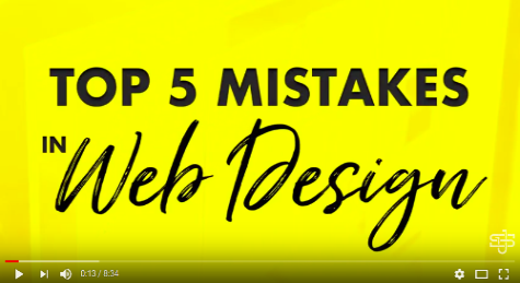Top 5 web design mistakes