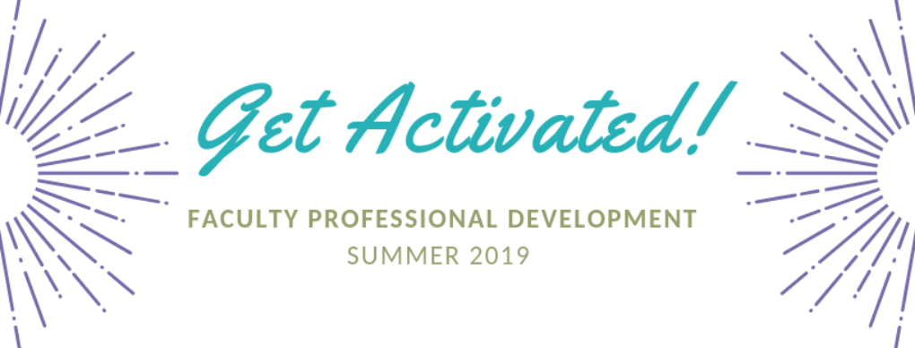 Get activated! faculty professional development 2019
