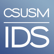 IDS logo text = IDS above CSUSM