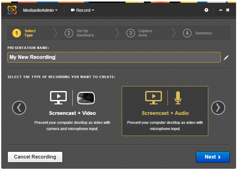 Screencast + Audio