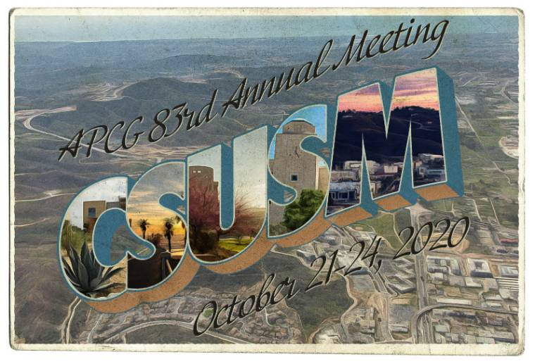 APCG 83rd Annual Meeting at CSUSM October 21-24, 2020