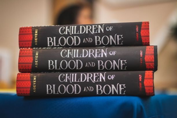 stack of Children of Blood and Bone