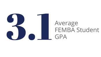 3.1 is the average GPA of Femba students