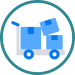 boxes on dolly icon