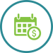 money calendar icon