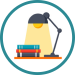 lamp and books icon
