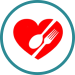 heart and food icon