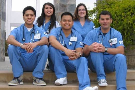 smiling nursing students