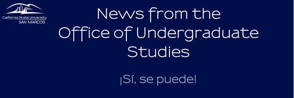 News from the Office of Undergraduate Studies