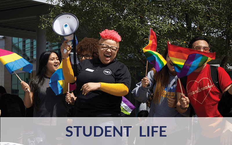 Students at a Pride Event