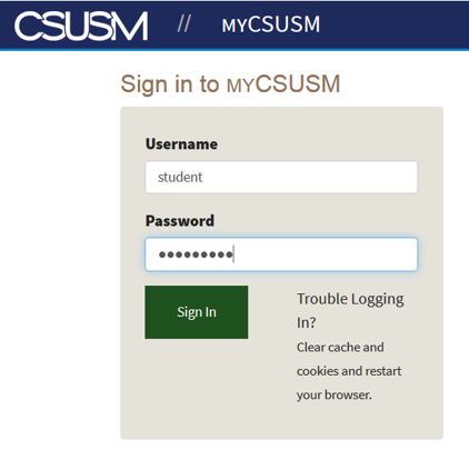 Sign in to MyCSUSM
