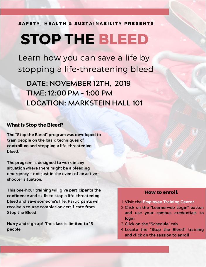 Stop the Bleed training flyer