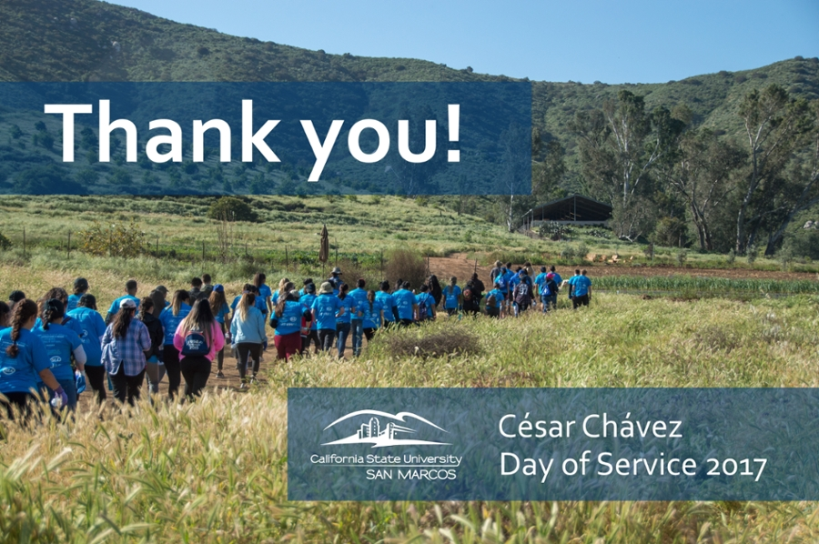 Cesar Chavez Day of Service 2017 - Thank You