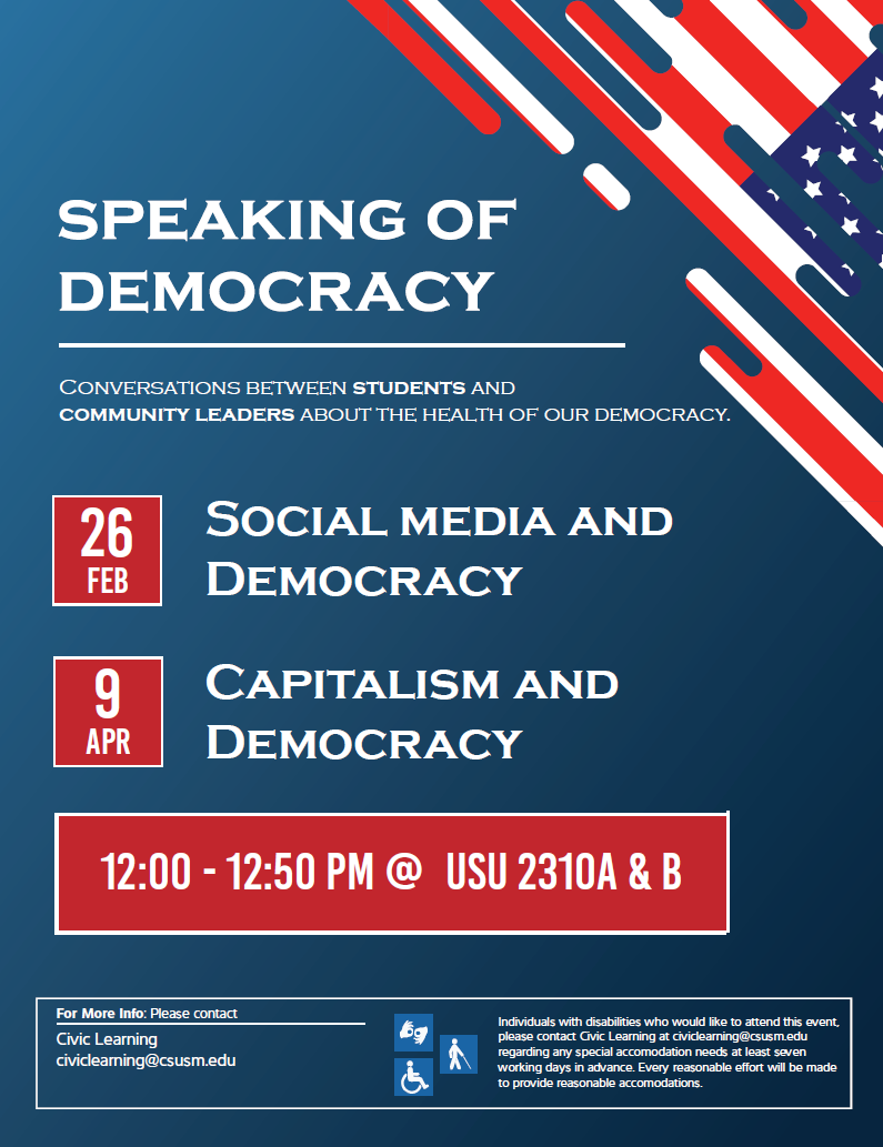 Speaking of Democracy flyer
