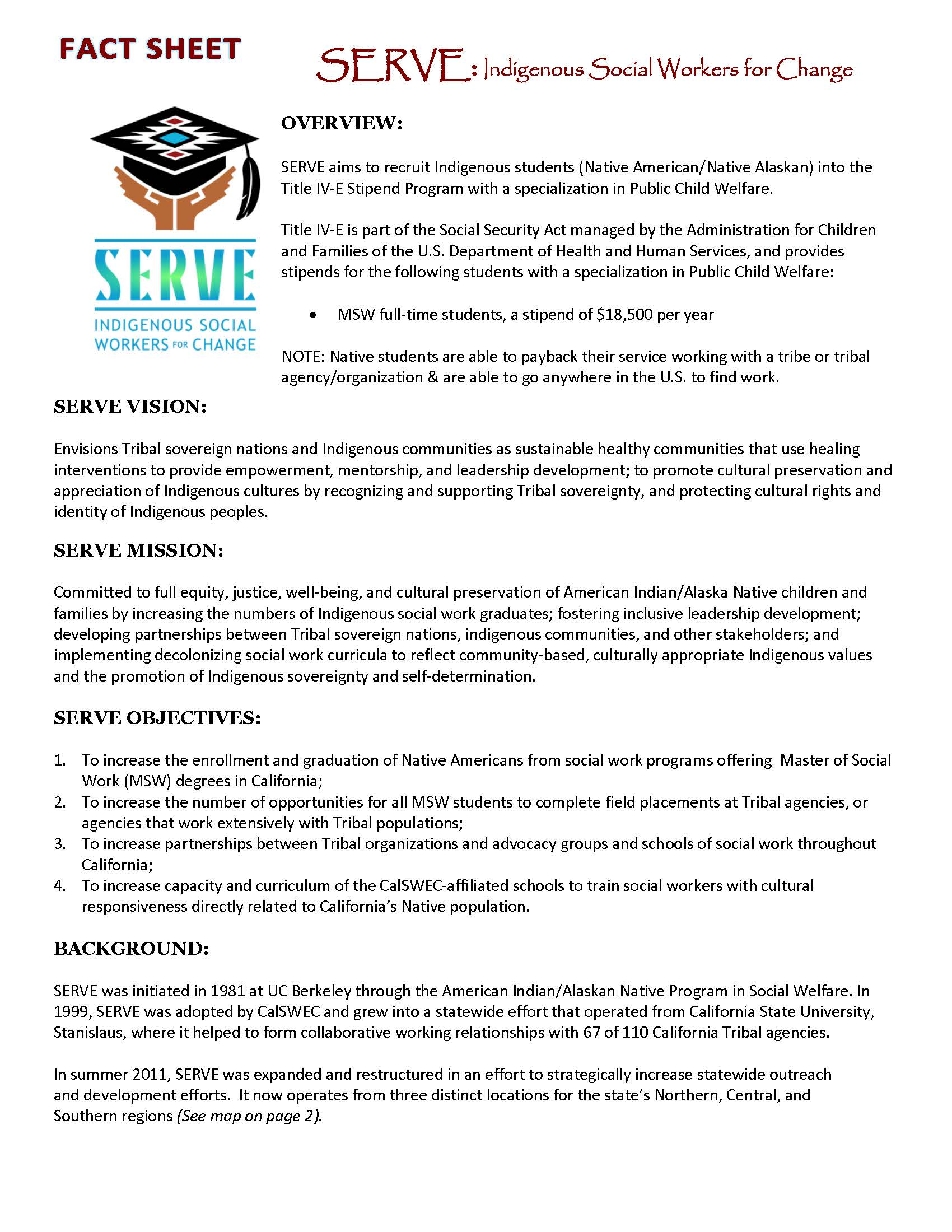 full time title iv e child welfare stipend program department of msw factsheet
