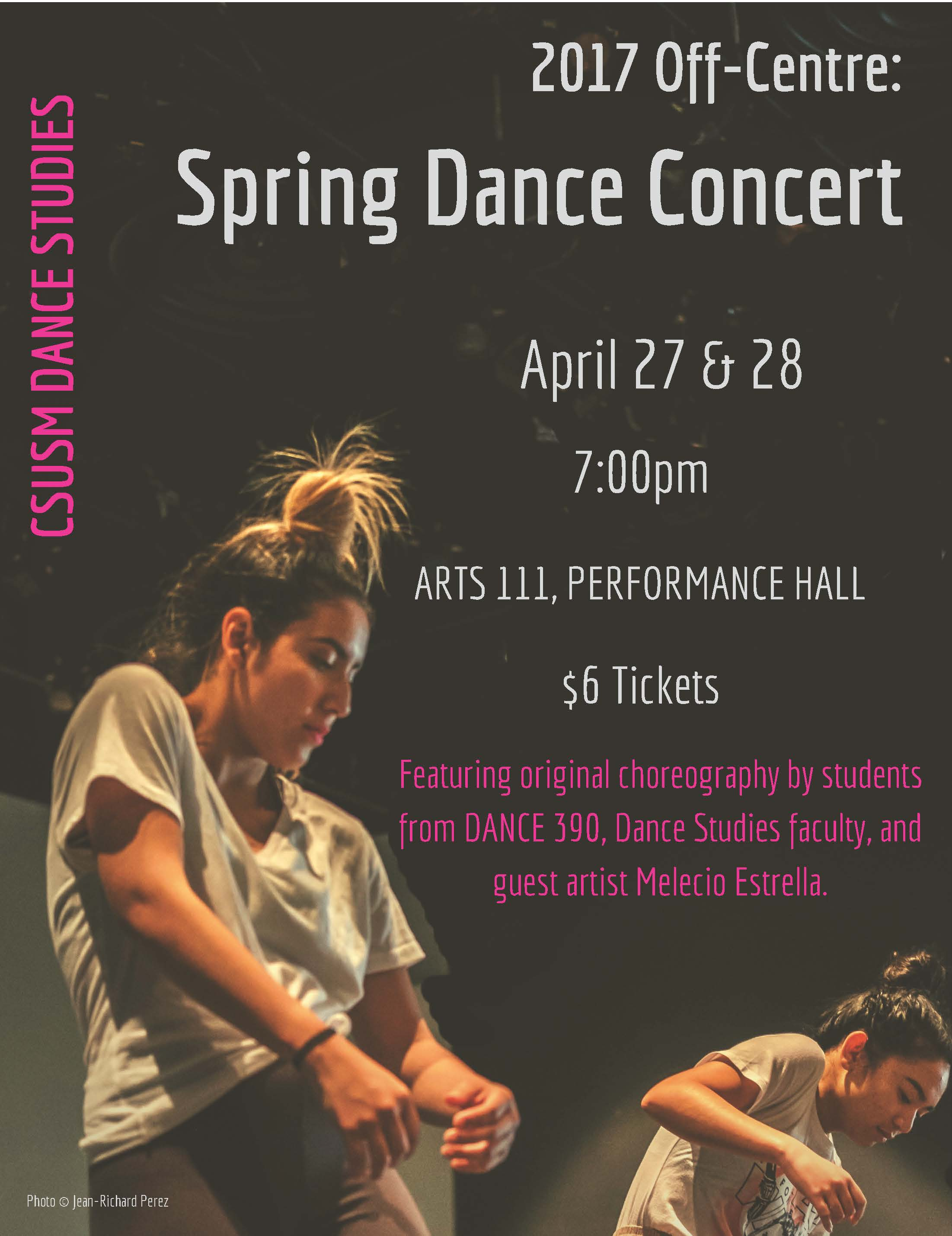 Spring Dance Concert at CSUSM April 27 and 28