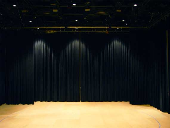 Inside the Black Box theater