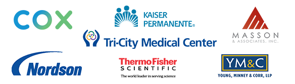 Cox, Kaiser, Masson & Associates, Nordson, Thermo Fischer, Tri-City, Young, Minney & Corr