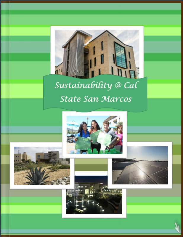 front cover of sustainability booklet