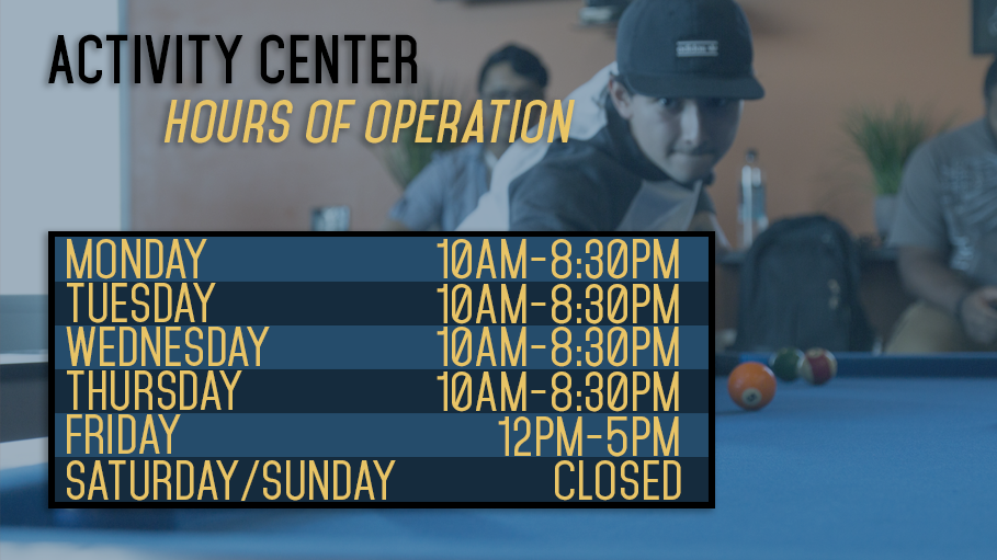 Activity Center Hours