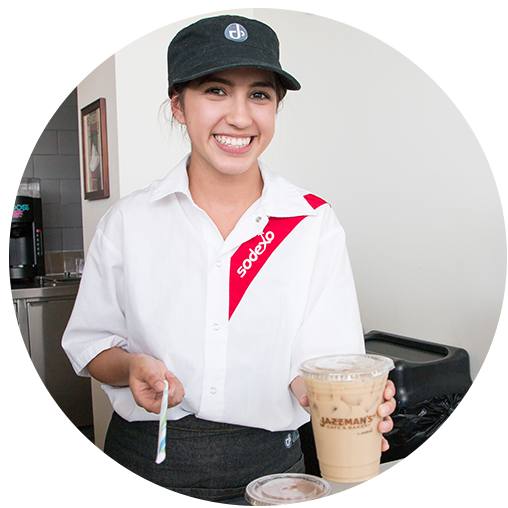 Employee with Coffee